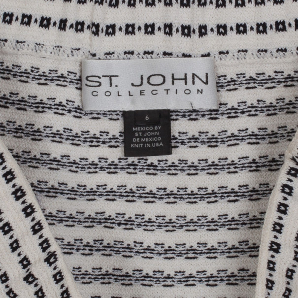 St. John Monochrome Knit Skirt M