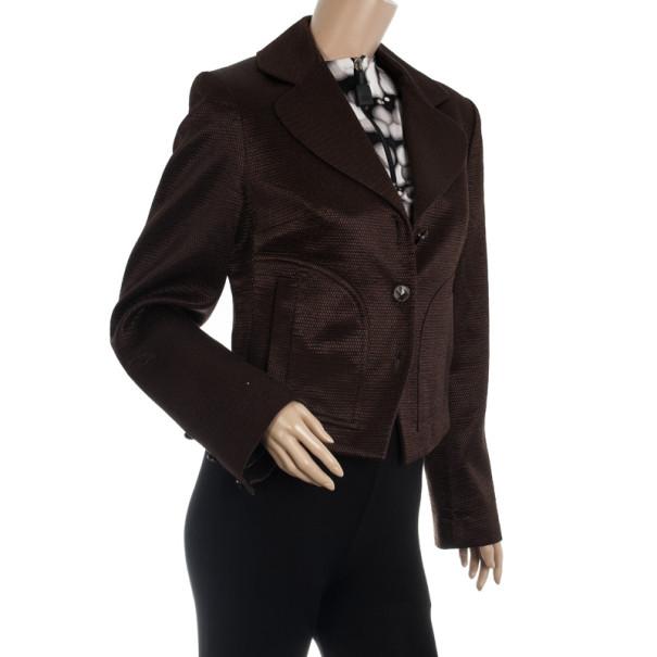 Christian Lacroix Bazaar Vintage Brown Blazer M