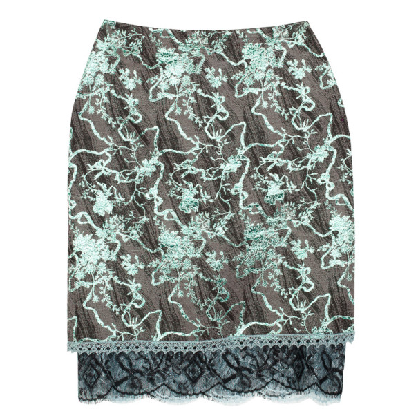 Christian Lacroix Bazaar Vintage Jacquard Printed Skirt M