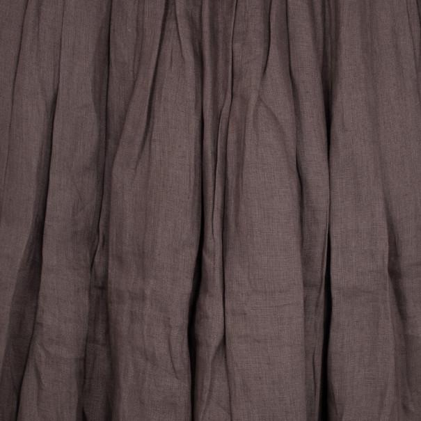 Saint Laurent Paris Vintage Pleated Midi Skirt M