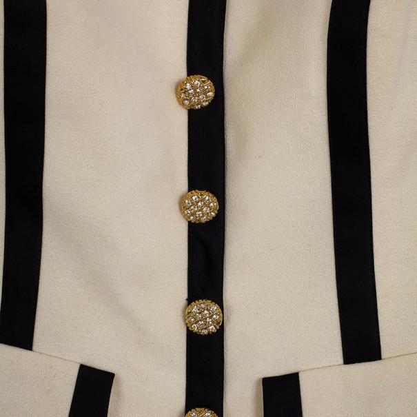 Vintage Escada Couture Monochrome Corset S