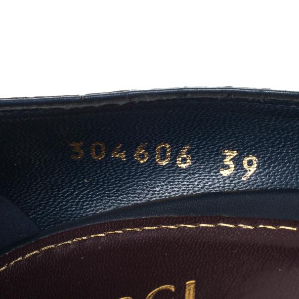 Gucci Python Embossed Metallic Pumps Size 39