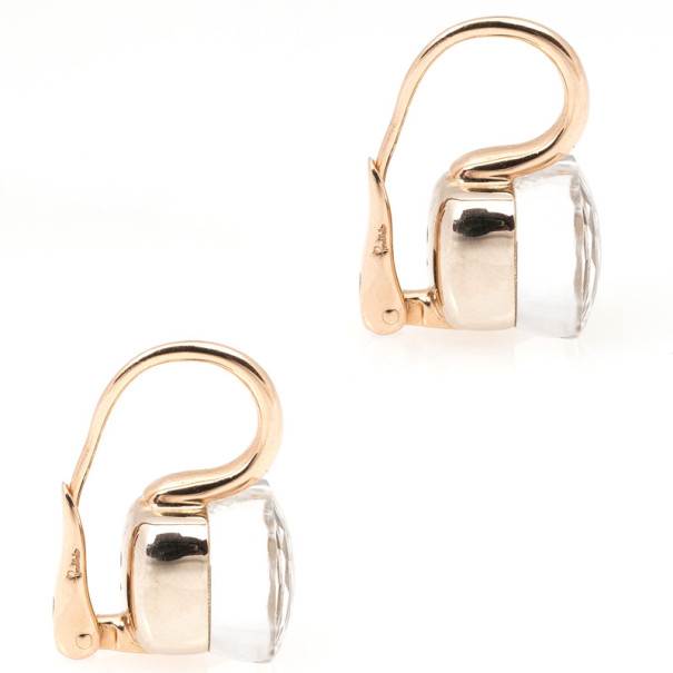 Pomellato Nudo Pink Gold and White Topaz Earrings