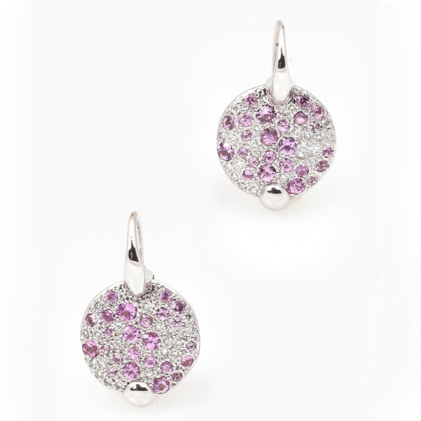 Pomellato Sabbia Pink Sapphires and Diamonds Earrings