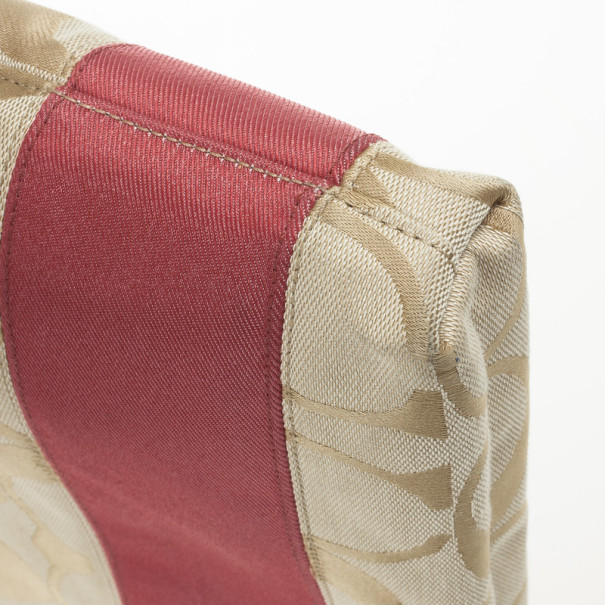 Coach Signature Stripe Cross Body Bag