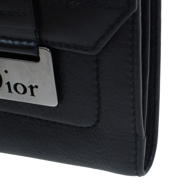 Dior Black Leather Chic Compact Wallet