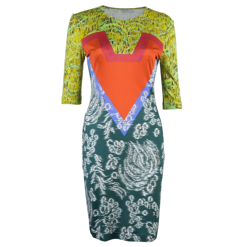 Peter Pilotto Multicolor Printed Bodycon Dress S