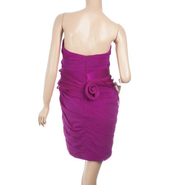 Notte By Marchesa Ruffled Silk Dress M