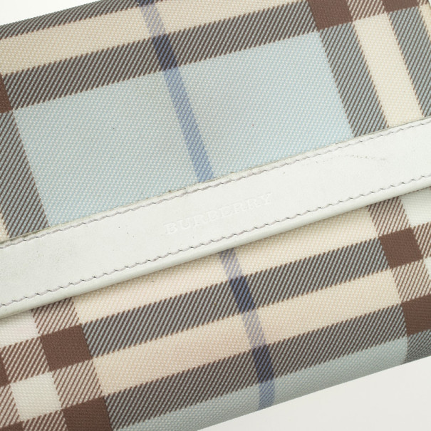 Burberry Light Blue Nova Check Continental Wallet