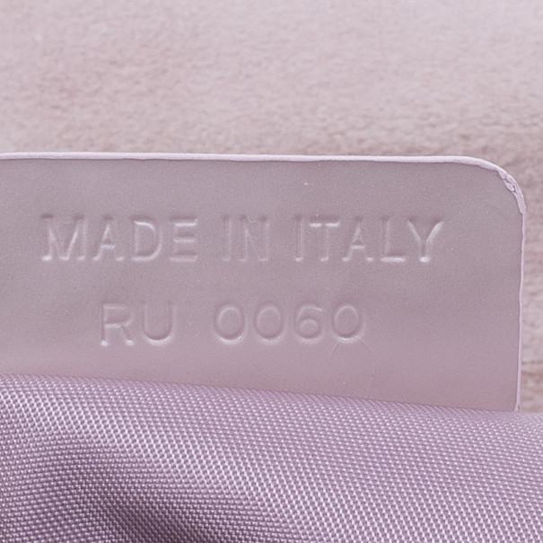 Dior Pink Suede Maris Pearl Shoulder Bag
