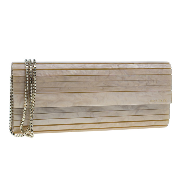 Jimmy Choo Gold Acrylic Sweetie Clutch