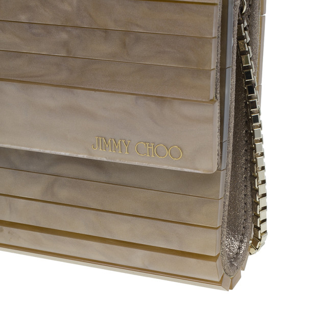 Jimmy Choo Gold Acrylic Sweetie Clutch