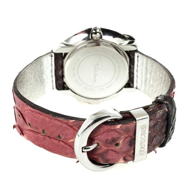 Roberto Cavalli Timewear Snake Diamonds Womens Wristwatch 40 MM