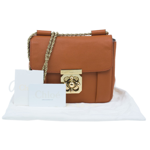 Chloe Brown Leather Mini Elsie Cross Body