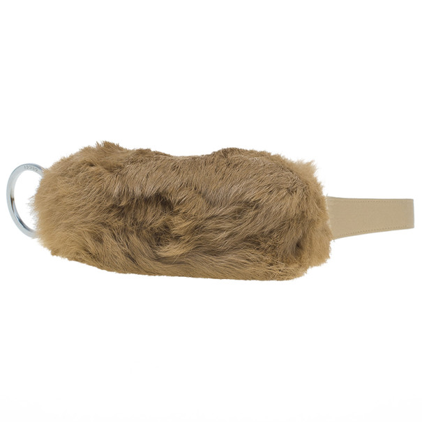 Gucci Brown Rabbit Fur Pochette