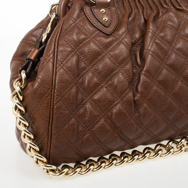 Marc Jacobs Brown Leather Stam
