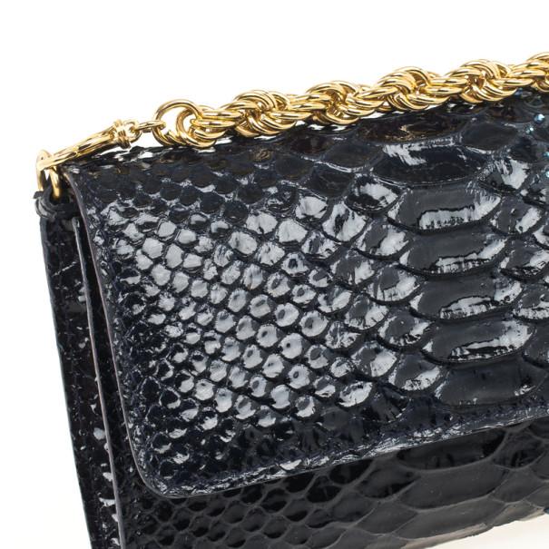 Roberto Cavalli Python & Crystal Clutch