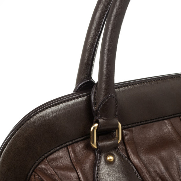 Prada Brown Leather Gaufre Bag