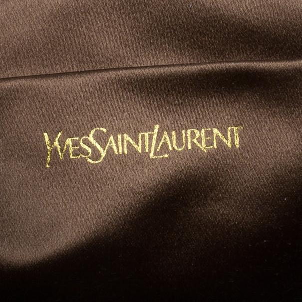 Saint Laurent Paris Bronze Embellished Chyc Clutch