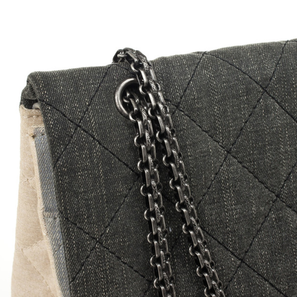 Chanel Reissue Tri-Color Denim Maxi Handbag