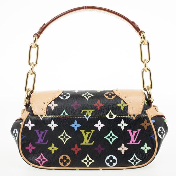 Louis Vuitton Black Multicolor Monogram Canvas Marilyn Bag