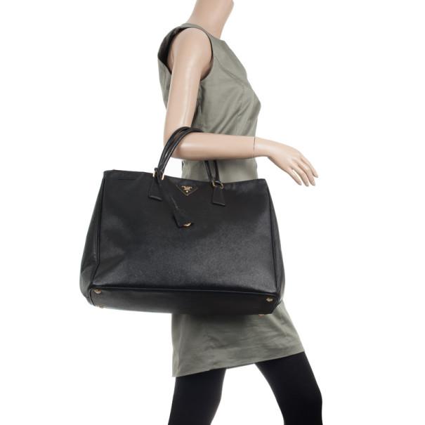 Prada Black Saffiano Lux Large Bag
