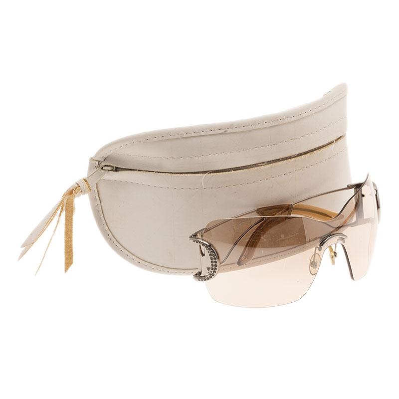 Dior Beige Diorly1 Shield Sunglasses