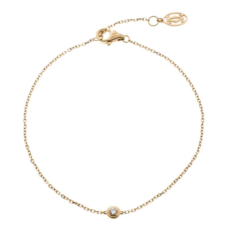Купить со скидкой Cartier Diamants Legers de Cartier Diamond 18k Yellow Gold Bracelet