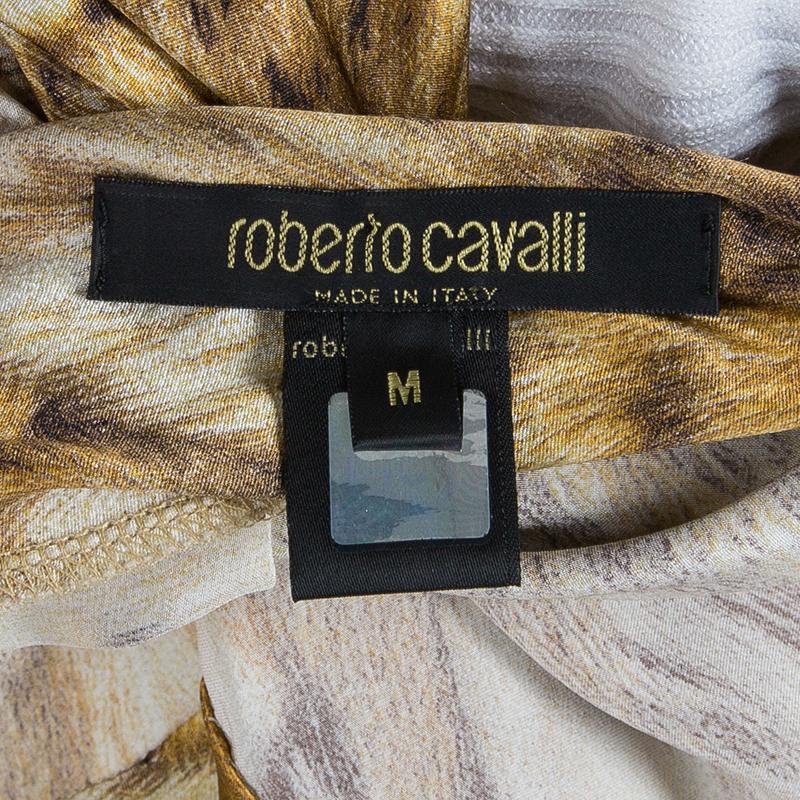 Roberto Cavalli Animal Print Maxi Dress M