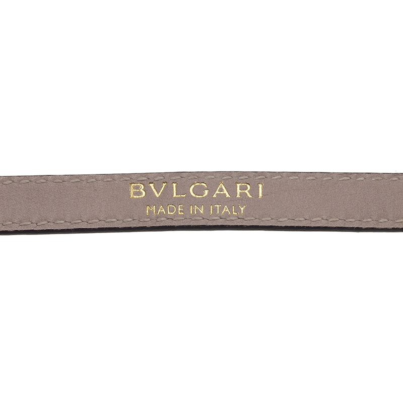 Bvlgari Serpenti Green Karung Leather Bracelet