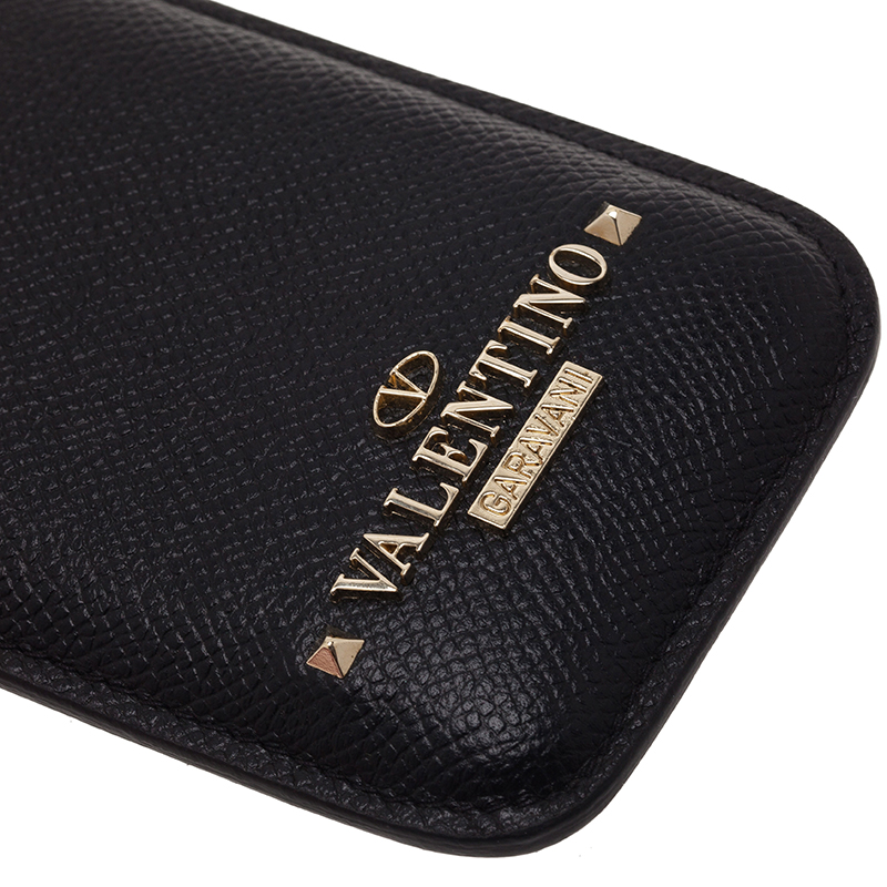 Valentino Black Leather iPhone 5 Case