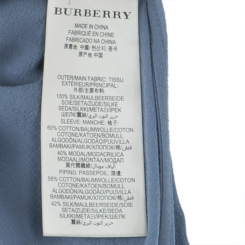 Burberry Brit Grey Rainie Wrap Dress XS