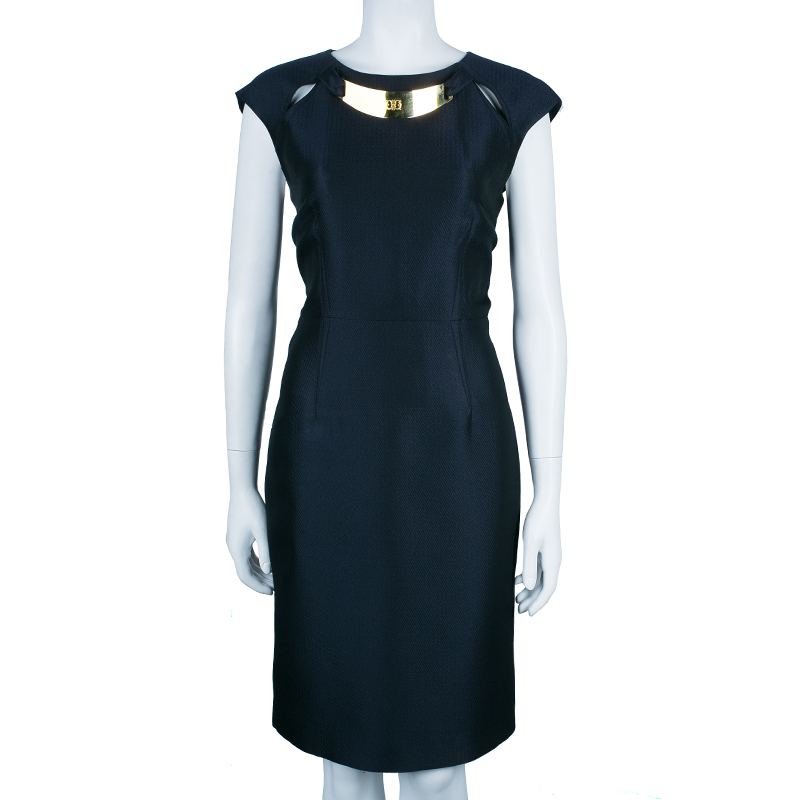 Class by Roberto Cavalli Navy Sheath Dress L