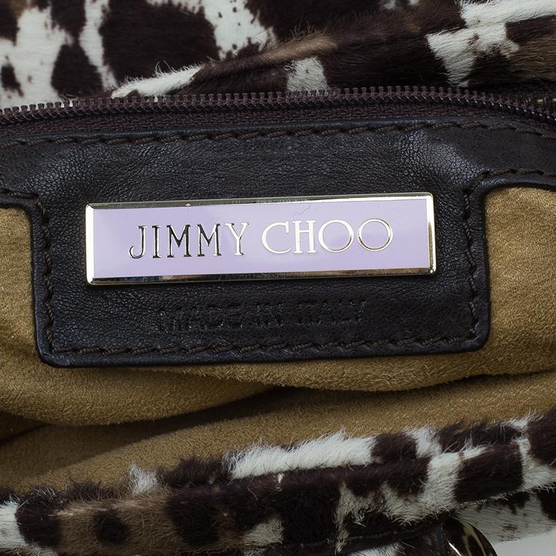 Jimmy Choo Animal Print Pony Hair Bolero Chain Clutch