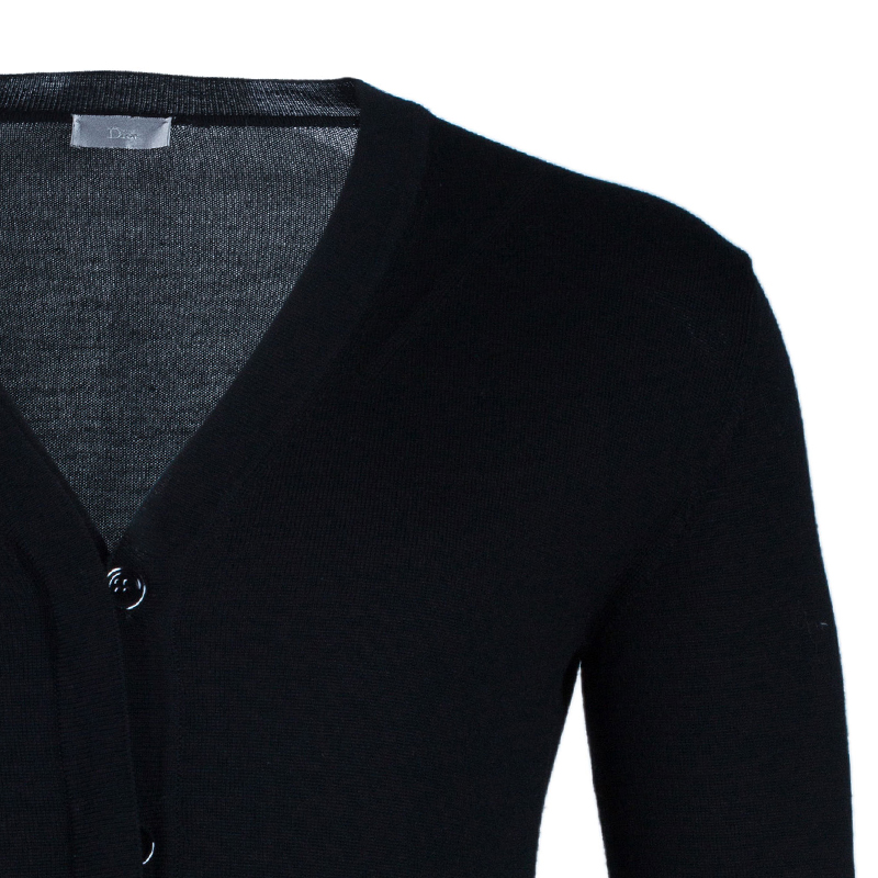 Dior Men's Black Button Down Cardigan S