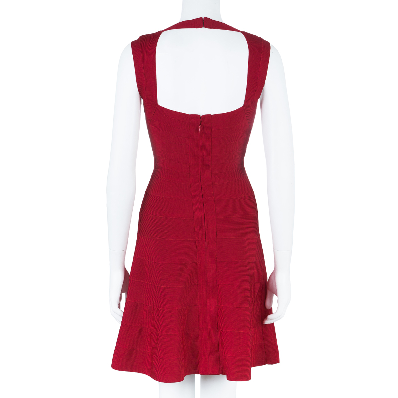 Herve Leger Bruna Flare Dress S