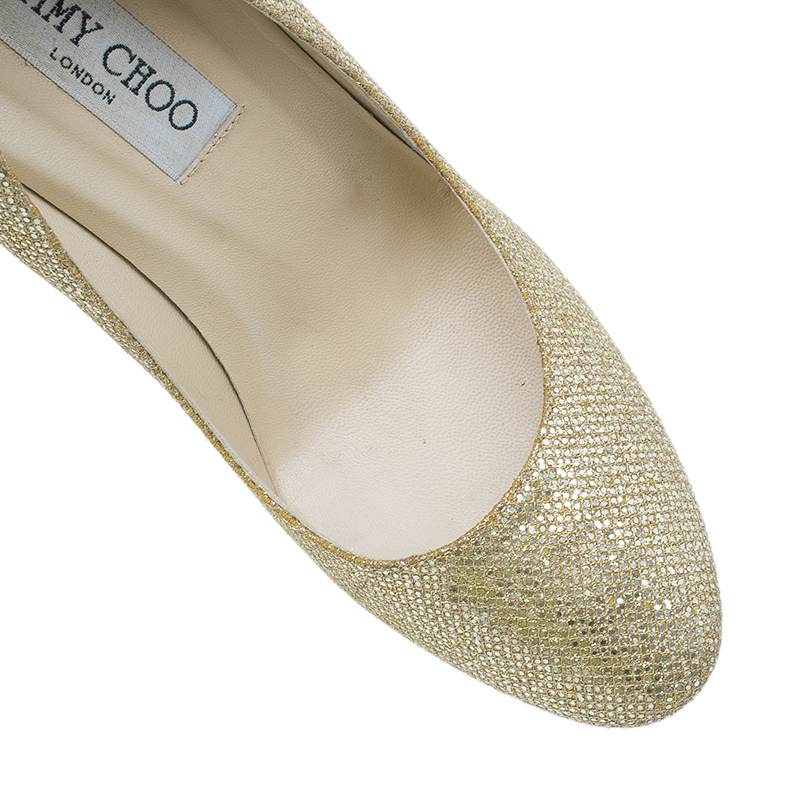 Jimmy Choo Gold Pumps Size 38