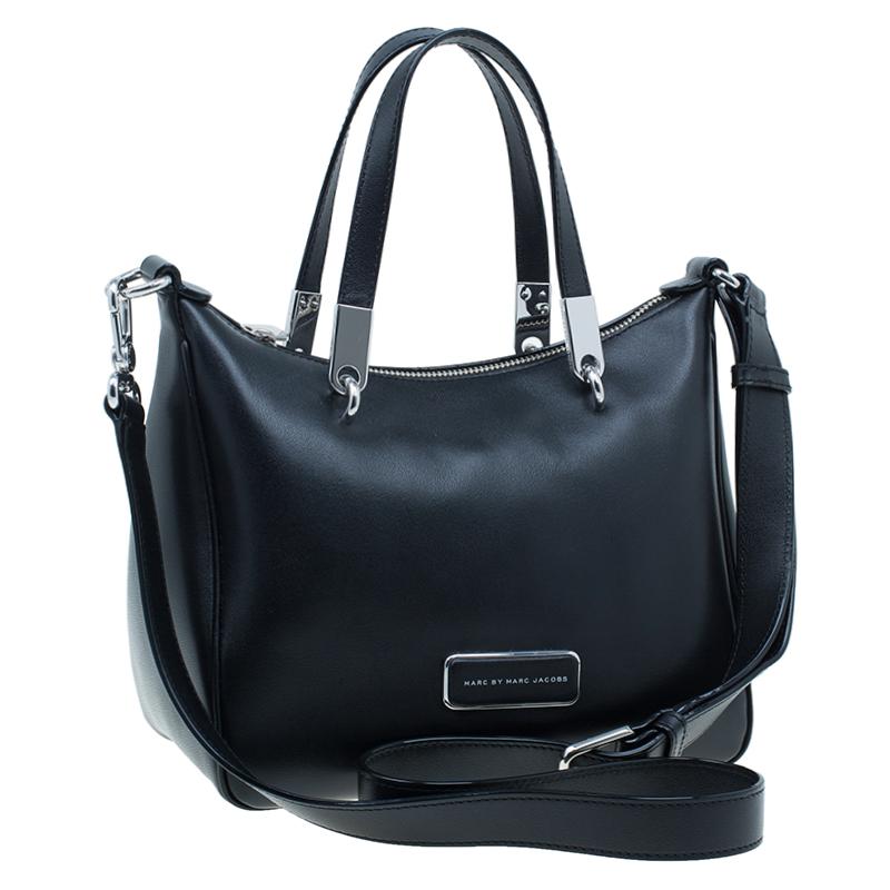 Marc by Marc Jacobs Black Leather Ninja Nano Crossbody Bag