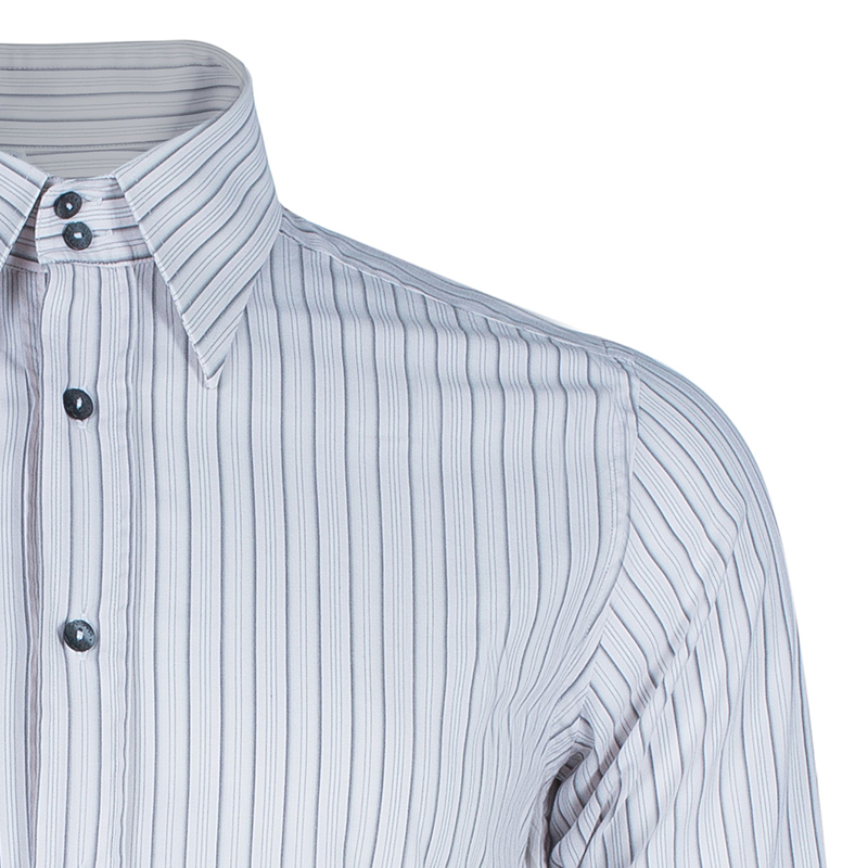 Dolce and Gabbana Men's Striped Button Down Shirt S