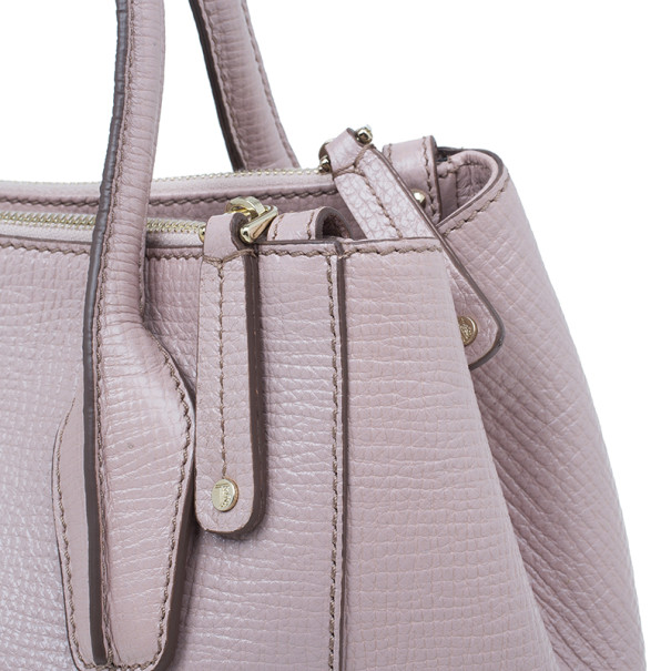 Tod's Nude Leather Small D-Styling Tote Bag
