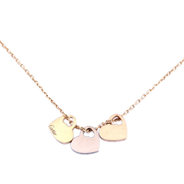 Cartier Hearts 18K Gold Pendant Necklace