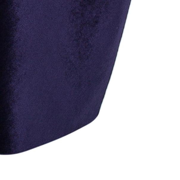 Emporio Armani Purple Neoprene Velvet Cocktail Gown S