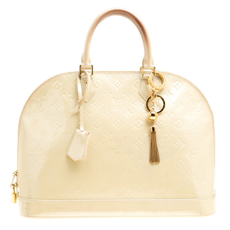Купить со скидкой Louis Vuitton Perle Monogram Vernis Alma GM Bag