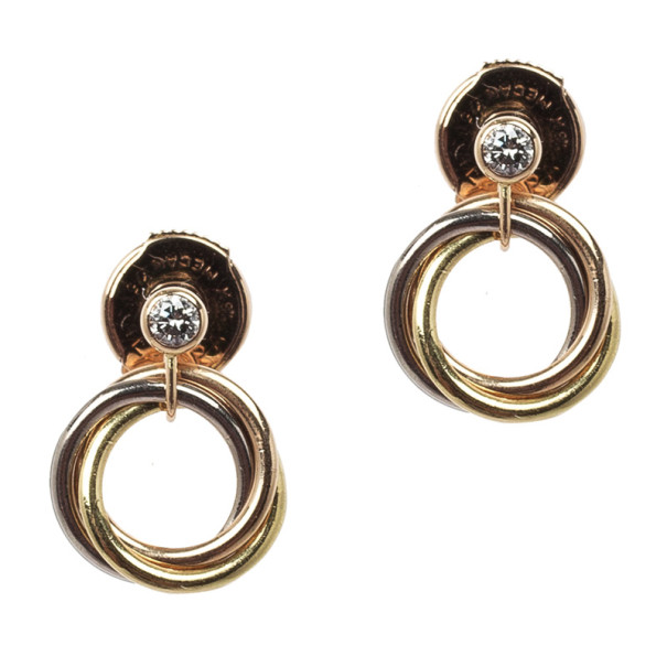 Cartier Sweet Trinity Diamond Earrings Nextprev Prevnext