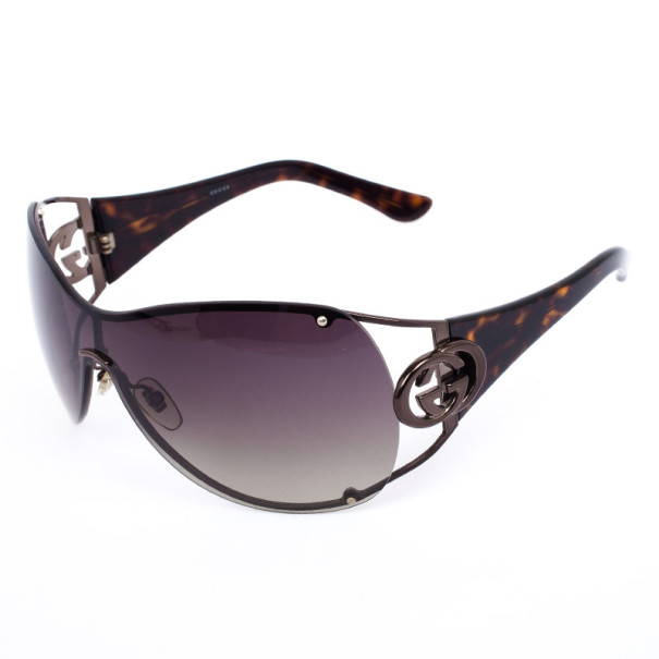 Gucci Shield Sunglasses  gucci black shield gg 2802 s women sunglasses lc