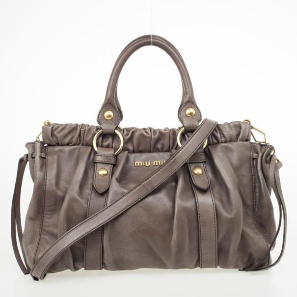 374cd433a77b big sale 774d0 1aa40 miu top handle bag grey larger image - dragon ...
