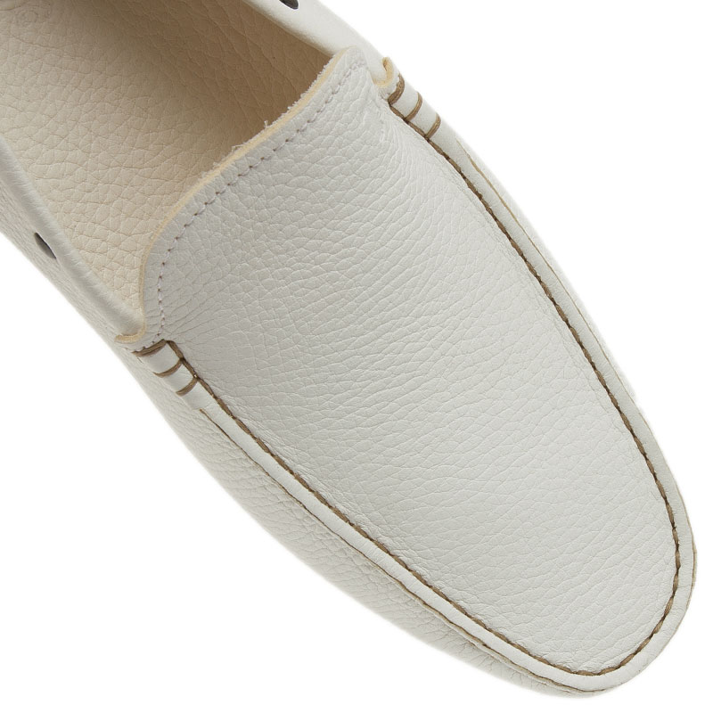 Tod's White Leather Loafers Size 44
