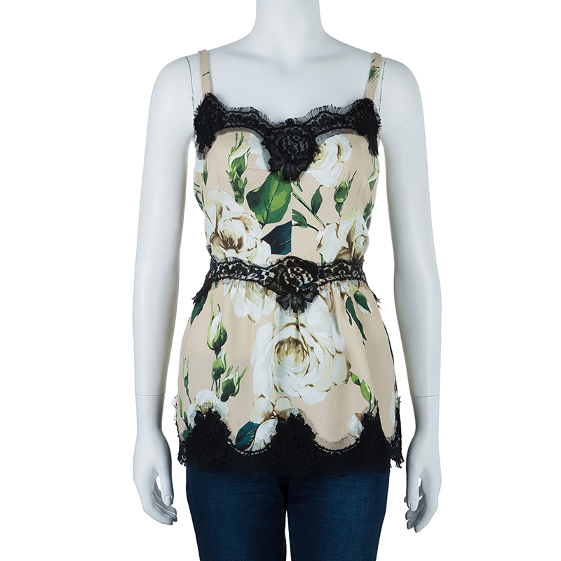 Dolce And Gabbana Floral Sleeveless Top M
