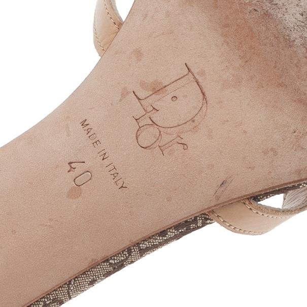 Dior Beige Monogram Mules Size 40