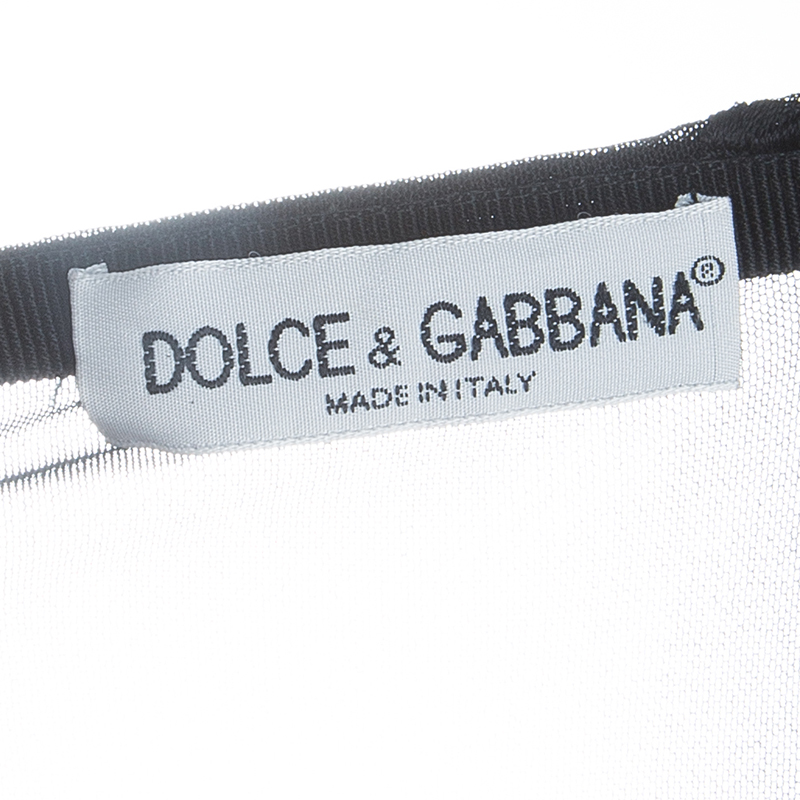 Dolce and Gabbana Black Net Floral Skirt M